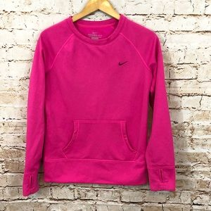 Nike Therma-Fit Pullover Sweatshirt medium pink